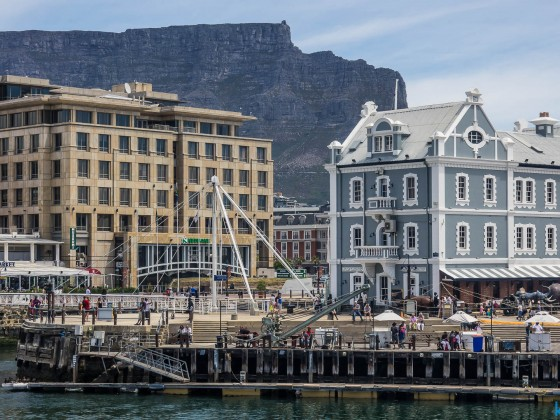 Cape Town harbour swing bridge at the V&A Waterfront