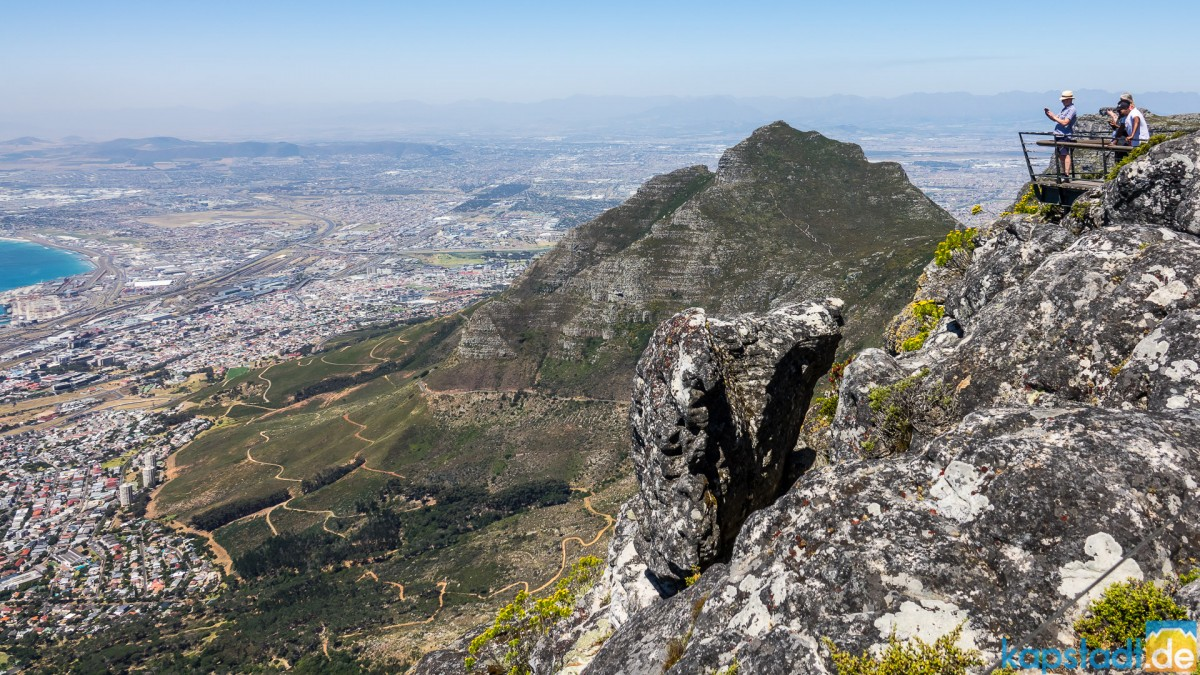 On top of Table Mountain: Devils Peak