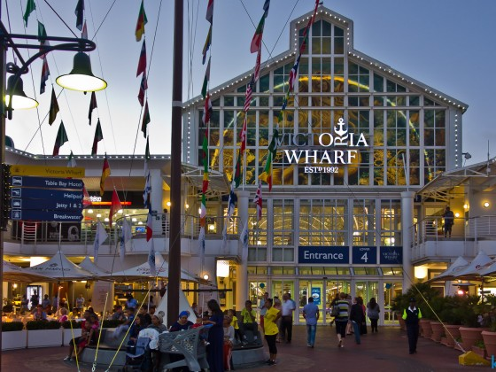 V&A Waterfront in the evening