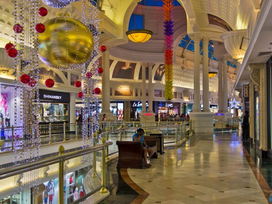 Canal Walk Shopping Mall during christmas time