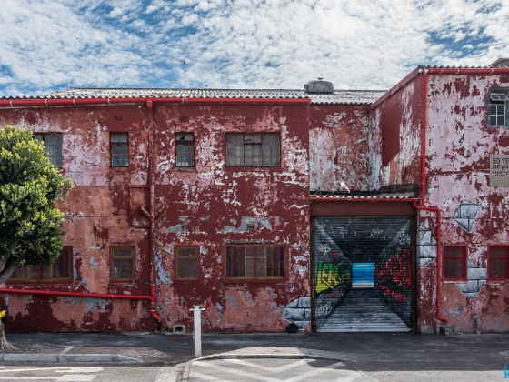 Interesting painted building at Hout Bay harbour