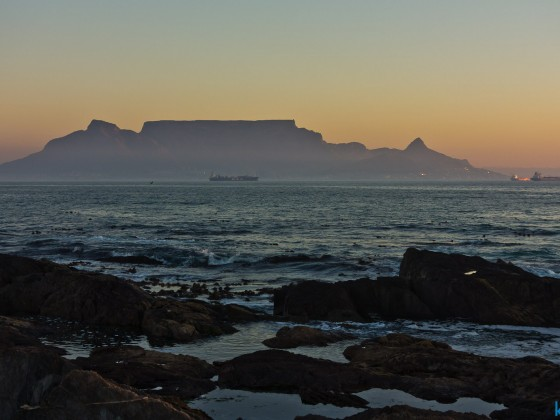 Sunset at Bloubergstrand with Table Mountain