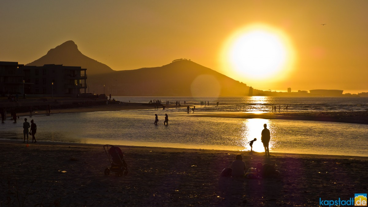 Sunset at Lagoon Beach in Milnerton