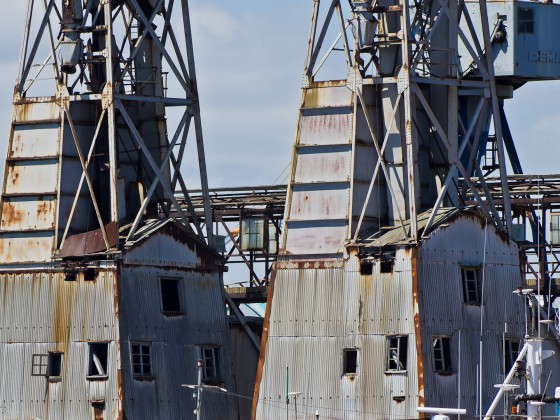 Old cranes at Cape Town harbour