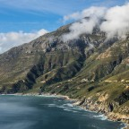 Chapman's Peak Drive between the outlook and Hout Bay
