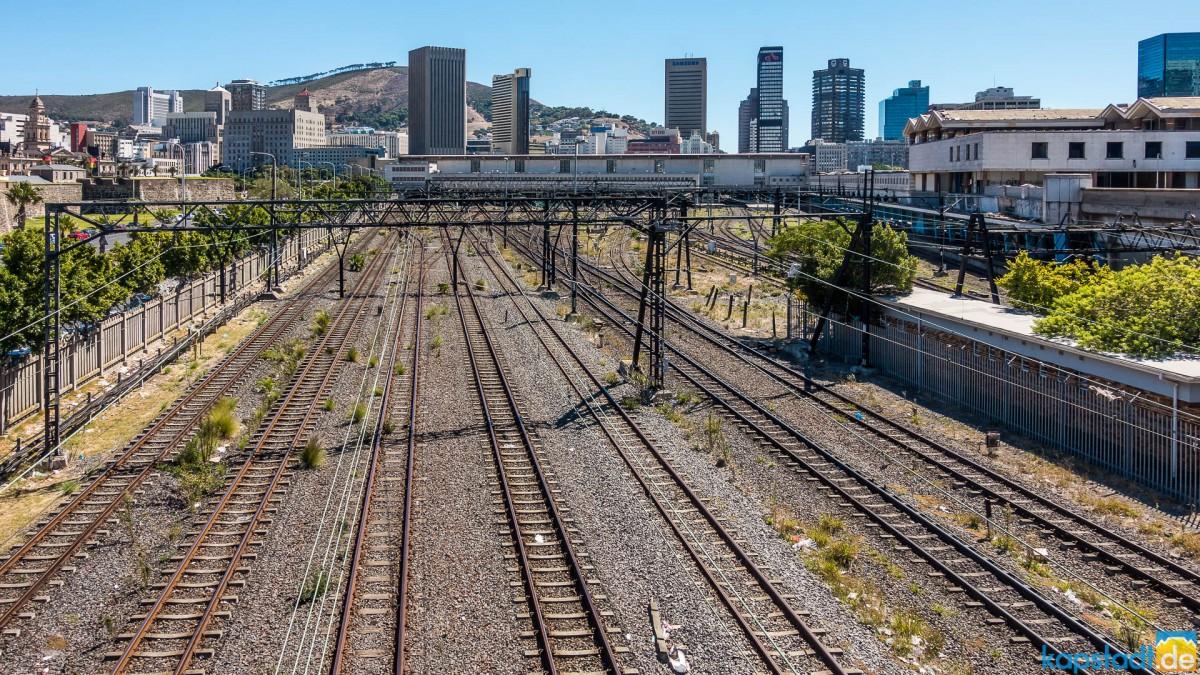 Railways towards Cape Town Station