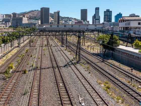 Railways towards Cape Town Station
