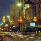 Adderley street at night 1964
