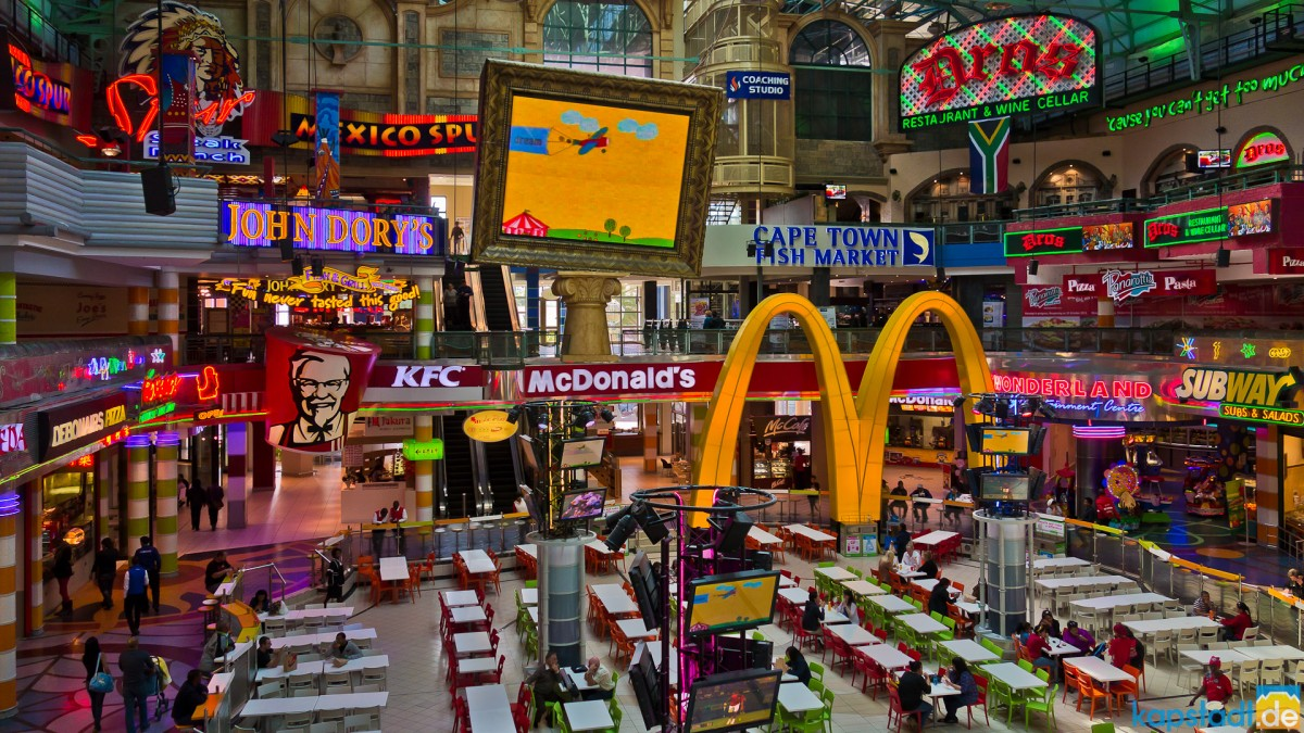 Food Court in the Canal Walk Shopping Mall