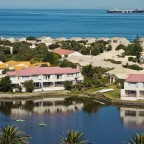 Residential area on Woodbridge Island with the Milnerton Lagoon