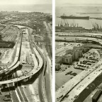 Foreshore Flyovers taking shape,1976
