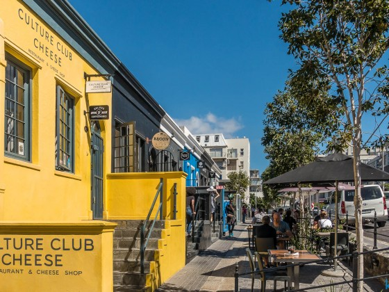 Culture Club Cheese Restaurant in Bree Street in Cape Town