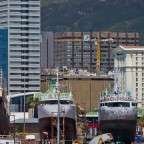 CBD with dry docks at the V&A Waterfront