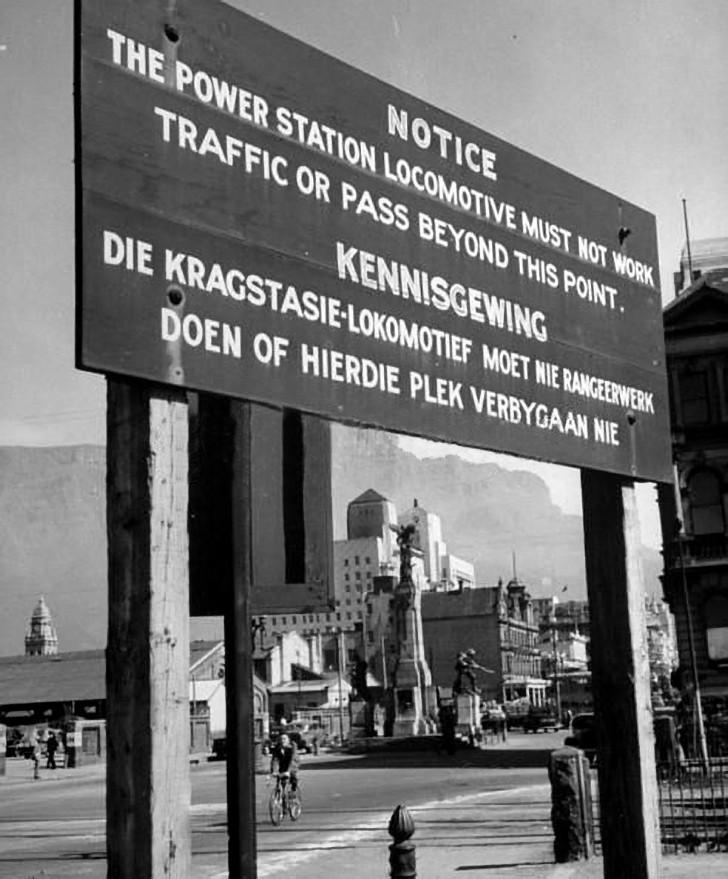 Notice board in Adderley street 1946