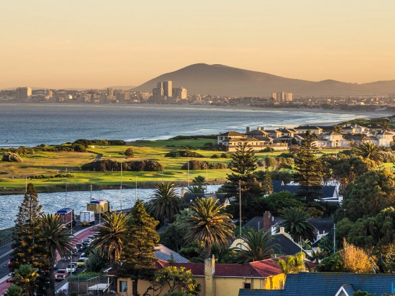 Milnerton golf course after sunrise