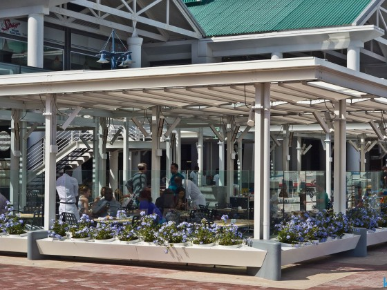 Renovated restaurant area at the Plaza at the V&A Waterfront