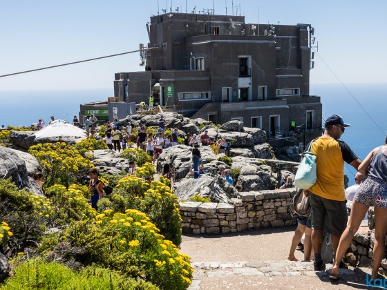 On top of Table Mountain: Upper Cable Car building