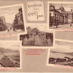 Postkarte Greetings from Cape Town 1913
