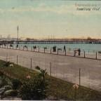 Postkarte Esplanade and Pier um 1900