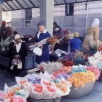 Buying flowers in Adderley str. 1974