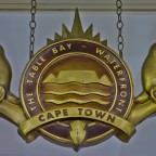 Table Bay Hotel logo at the hotel entrance at the Waterfront