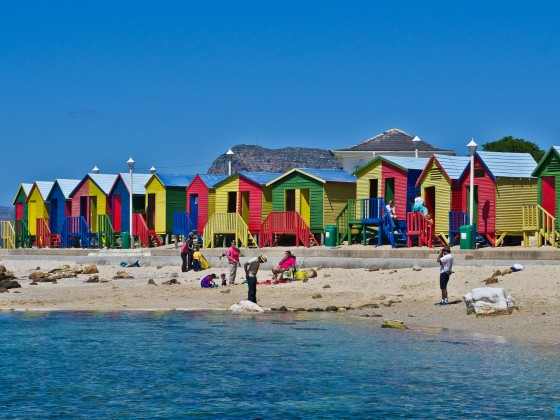 The beach of St. James (close to Kalk Bay)