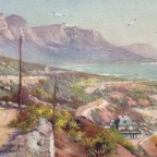 Postkarte Victoria Road an Clifton Hotel Sea Point um 1900