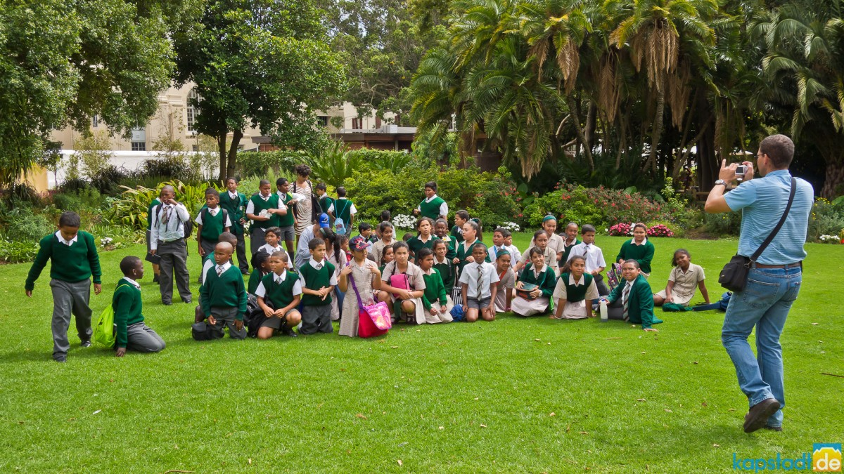 School class in Company's Garden