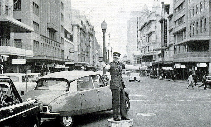 Traffic cop in Adderley street