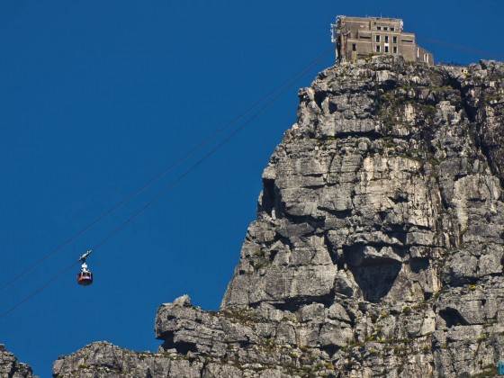 Cablecar station on top of Table Mountain from Camps Bay