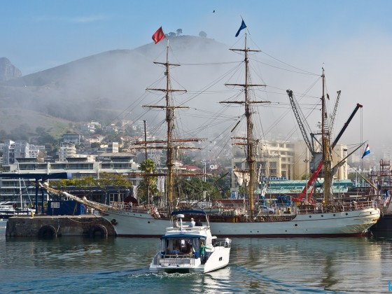 "The ""Europa"" anchoring at the V&A Waterfront"