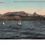 Postkarte Sea Point Lions Head and Table Mountain from the Sea