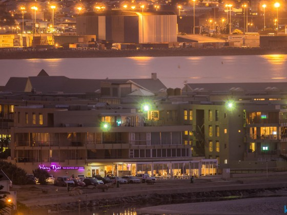 Wang Thai Restaurant at the Milnerton Lagoon in the evening