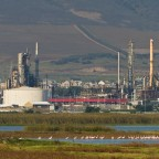 Chevron refinery in Milnerton with Flamingo Vlei
