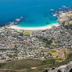 On top of Table Mountain: Camps Bay