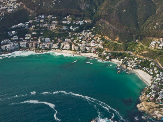 Helicopter flight: The Clifton beaches