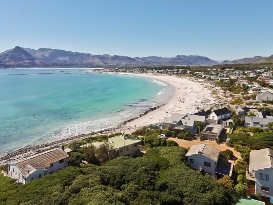 Aerial drone image of the beach of Kommetjie