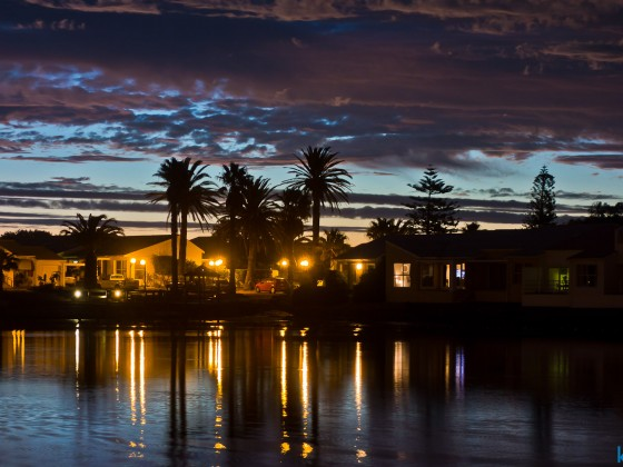 Milnerton Lagoon with Woodbridge Island after sunset
