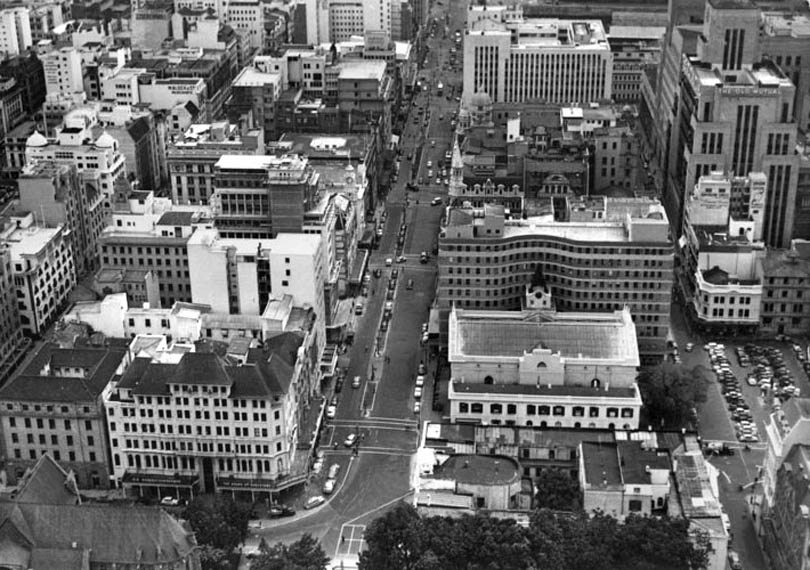 Looking down Adderley Street, 1962
