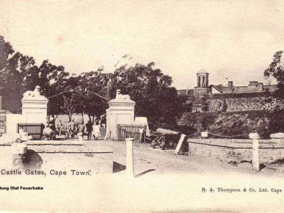 Postkarte Castle Gates 1908