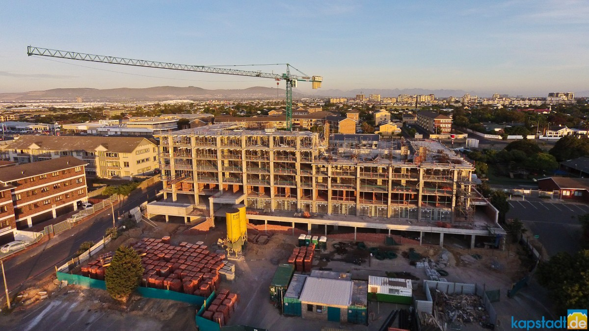 "Aerial image from the construction of the ""Key West"" flat building in Milnerton"