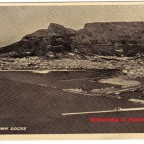 Postkarte Kapstadt Hafen 1930