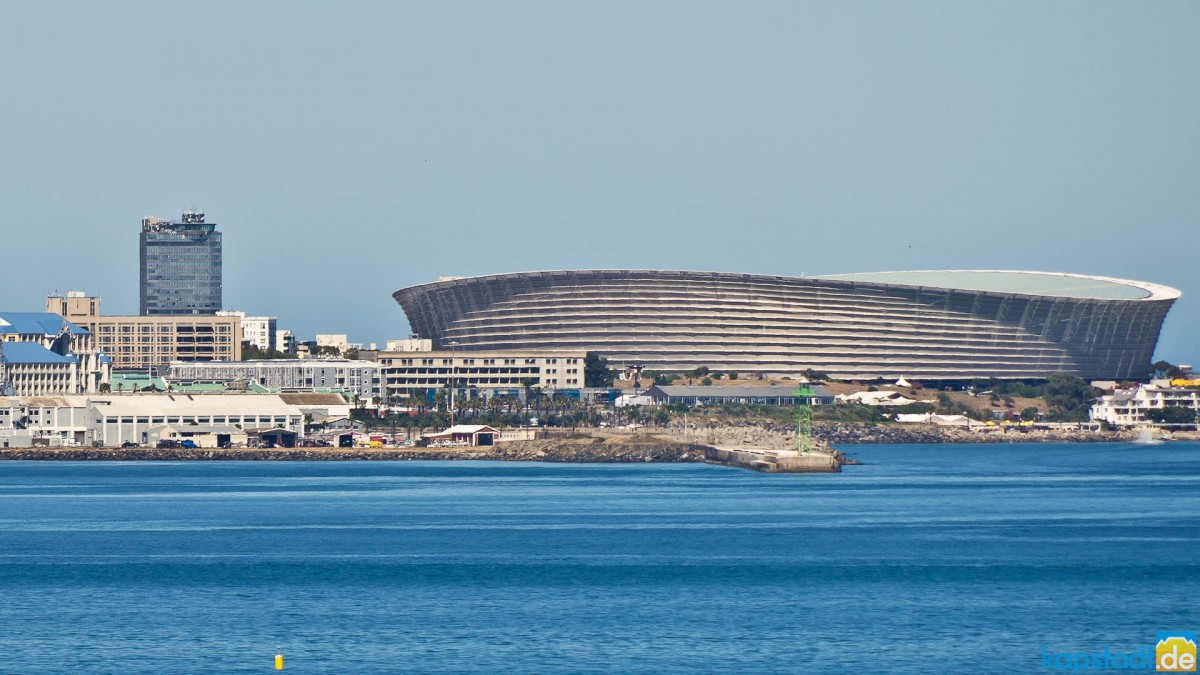 Green Point Soccer Stadium and the Ritz Hotel