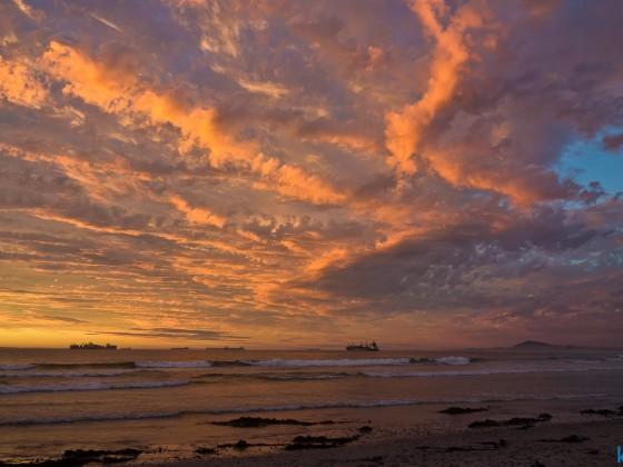 Milnerton Lagoon and beach after sunset