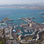 Helicopter flight: V&A Waterfront and the Table Bay