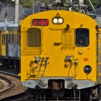 Train from Simon's Town to Cape Town seen in Kalk Bay