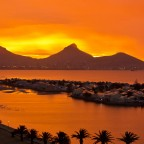 Unreal sunset light in Milnerton