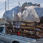 Overloaded bakkie on Woodbridge Island