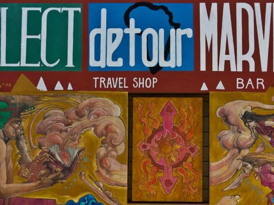 Wall painting seen at Long Street