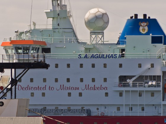 S.A. Agulhas II at the V&A Waterfront